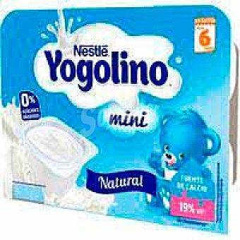 Nestlé Yogolino mini natural nestlé, pack 6x60 G Pack 6 x 60 g