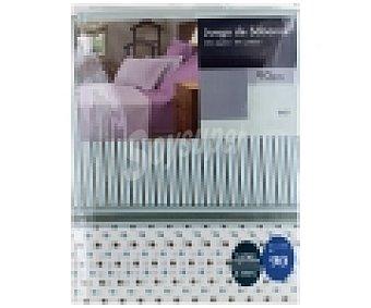 Auchan Juego de sábanas para cama de 90 centímetros, diseño rayas y puntos color azul 1 Unidad