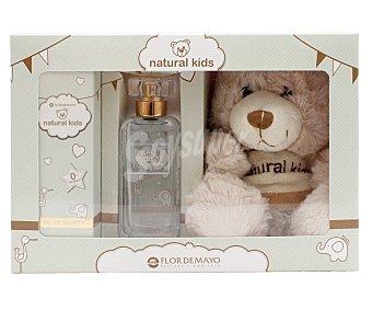 Natural kids Estuche de colonia sin alcohol para bebé de 50 ml, que incluye un simpático oso de peluche kids
