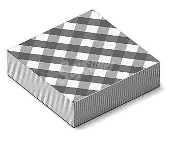 GABBIANO Servilletas desechables, estampado cuadros negros y blancos, 33x33cm iberia 20 unidades