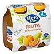 Zumo de fruta (naranja, melocotón, pera y uva) , a partir de 4 meses Pack 2 x 130 g Hero Baby