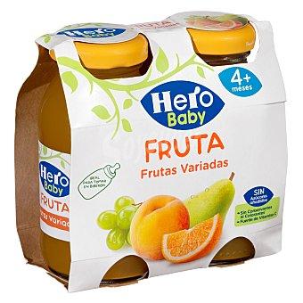 Hero Baby Zumo de fruta (naranja, melocotón, pera y uva) , a partir de 4 meses Pack 2 x 130 g