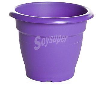 VAN Maceta plástica de tipo campana de color violeta y medidas de 23 x 21 centímetros 1 unidad