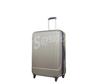 AIRPORT Maleta con 4 ruedas pivotantes, con estructura rígida de ABS de color gris, medida de 77 centímetros 77cm