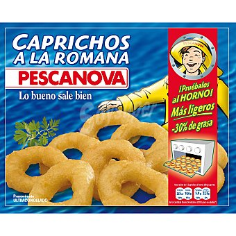 Pescanova Anillas de calamar a la romana sin gluten Bolsa 400 g