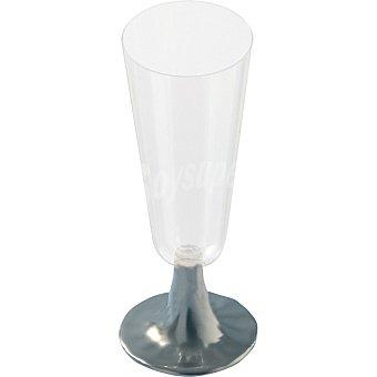 Copa de cava con pie plata Paquete 4 unidades
