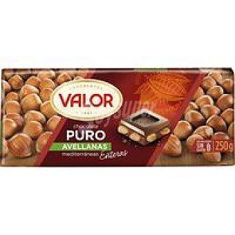 Valor Chocolate puro con avellanas Tableta 200 g