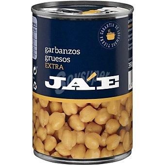 JA'E Garbanzos gruesos extra cocidos Lata 250 g neto escurrido