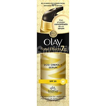 Olay Total Effects 7 en 1 dúo crema + serúm anti-edad FP-20 Dosificador 40 ml