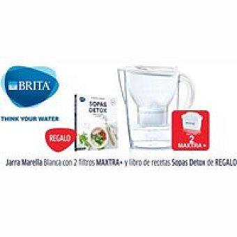 MARELLA Blanca+2 filtros MAXTRA+ Libro sopas Detox Jarra BRITA