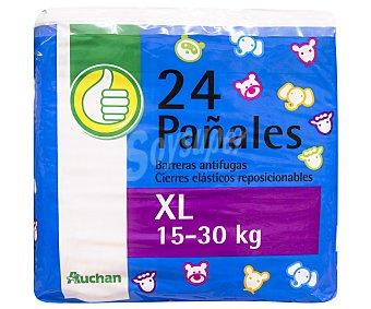 XL PRODUCTO ECONÓMICO ALCAMPO Pañales de la talla 24 uds