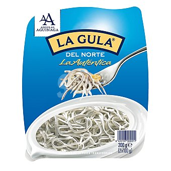 Angulas Aguinaga La gula del norte fresca Pack 2 envases x 100 gr