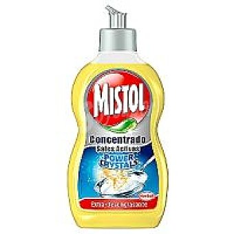 Mistol Lavavajillas mano sales activas limón Botella 480 ml