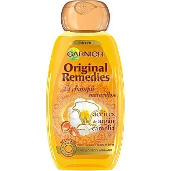 Original Remedies Garnier Champú maravilloso con aceites de argán y camelia para cabello seco y apagado frasco 250 ml Frasco 250 ml
