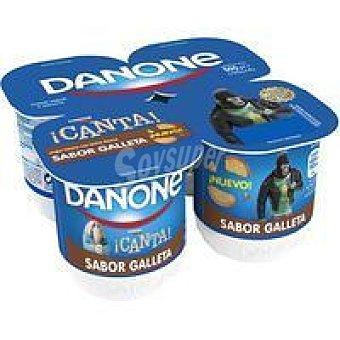 Danone Yogur sabor galleta Pack 4x125 g
