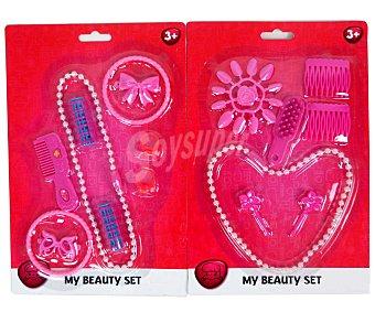PRODUCTO ECONÓMICO ALCAMPO Set de diferentes joyas de plástico 1 Unidad