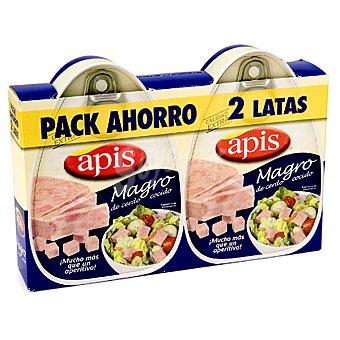 Apis Magro de cerdo cocido en su jugo Pack de 2x200 g