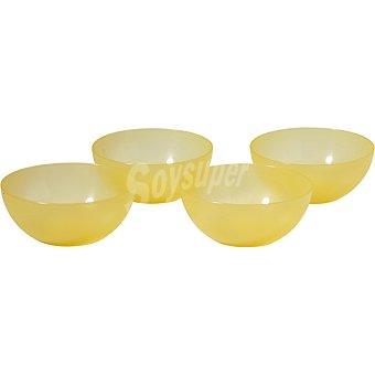 Dombi set 4 cuencos en color amarillo