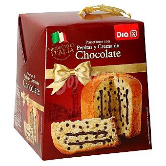 DIA Panettone con pepitas y crema de chocolate Caja 500 gr