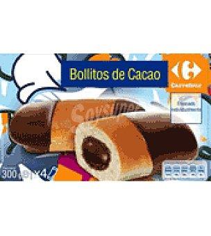 Carrefour Bollitos cacao Pack de 4x75 g