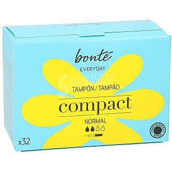 Bonté Tampones compactos con aplicador normal Paquete 32 ud