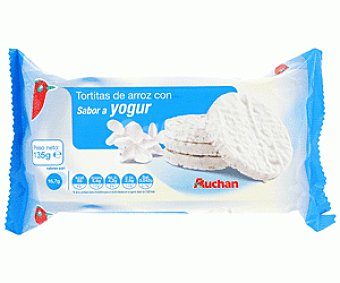 Auchan Tortitas Arroz Yogur 135 Gramos