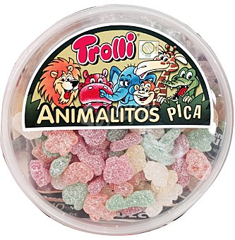 Trolli Gominolas surtidas acidas animalitos pica Bote de 600 g