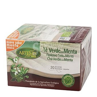 Artemis Bio Té verde con menta filtros 20 ud