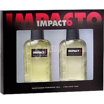 Impacto eau de cologne masculina + after shave loción Frasco 100 ml