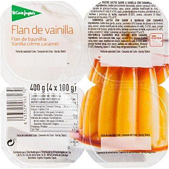 El Corte Inglés Flan de vainilla pack 4 unidades 100 g