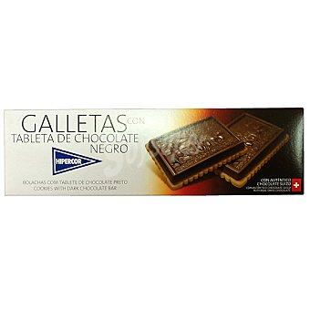 Hipercor Galletas con tableta de chocolate negro Estuche 125 g