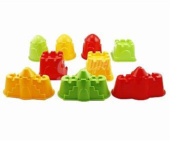 Euraspa Moldes de 14 x 14 x 10 centímetros, de diferentes formas y colores, para realizar figuras de arena 1 unidad