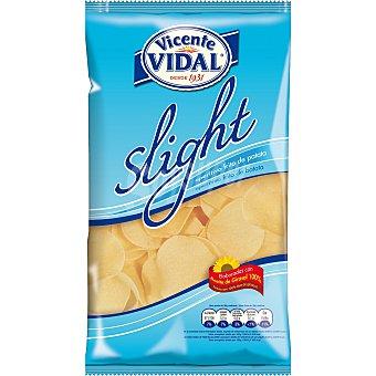 Vicente Vidal Patatas fritas light en aceite de girasol Bolsa 125 g