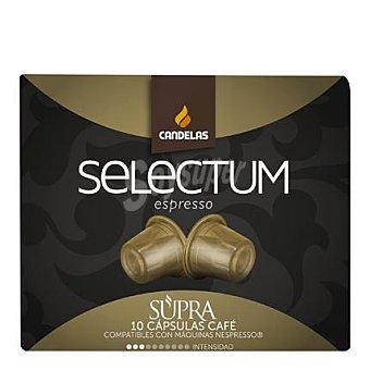 Candelas Café de origen Arábica Selectum Espresso en cápsulas 10 ud