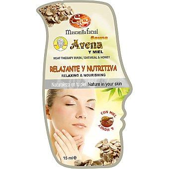 Sys Mascarilla facial sauna avena y miel relajante & nutritiva Envase 15 ml