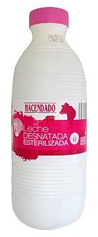 Hacendado Leche desnatada esterilizada Botella 1,5 l