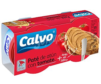 Calvo Paté de atún-tomate Pack 2x75 g