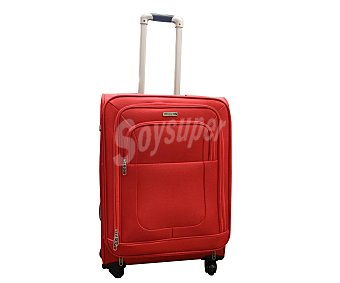 AIRPORT Maleta Trolley flexible 75cm de 4 ruedas de nylon, flexible y expansible, color rojo 1 unidad