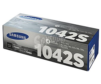 Samsung Tóner MLT-D1042S Negro compatible con impresoras: ML-1665/1660, SCX-3200/3217