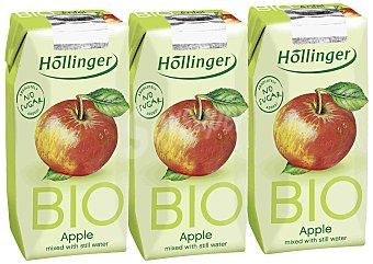 Hollinger Zumo de manzana Bio 3 envases de 200 ml