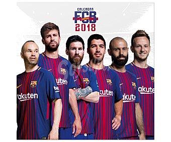 ERIK Calendario 2018 con medidas de 30x30 centímetros de Futbol Club Barcelona, ERIK.