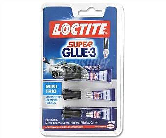 Loctite Pegamento súper glue-3 minitrio Blister 3 tubos x 1 g
