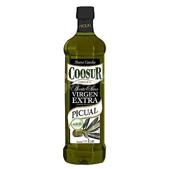 Coosur Aceite de oliva virgen extra sabor intenso variedad Picual Botella 1 l