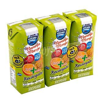 Hacendado Frutas+leche naranja mango sin azucar 3 x 330 cc