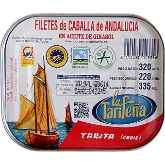 LA TARIFEÑA Filetes de caballa de Andalucía en aceite de girasol Lata 220 g