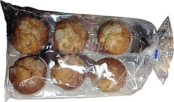 HACENDADO Magdalena azúcar horno Paquete de 6 uds