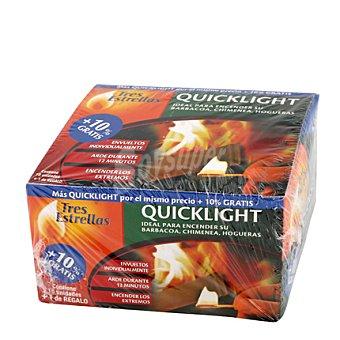 Tres Estrellas Enciendefuegos quicklight 10 ud