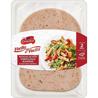 Campofrío Vuelta y Vuelta pechuga de pavo con verduras asadas y aceitunas negras sin gluten sin lactosa Envase 190 g