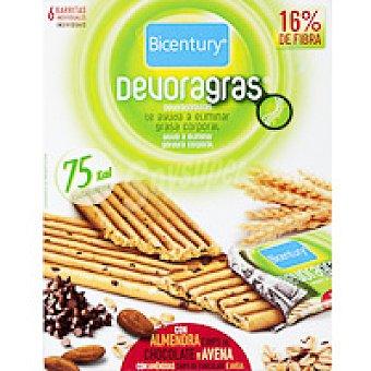 Devoragras Barrita de almendra con chocolate Caja 105 g