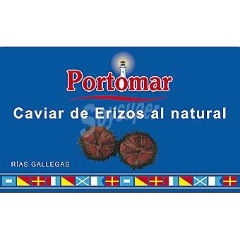 Portomar Caviar de erizos al natural de las rías gallegas lata 95 g neto escurrido Lata 95 g neto escurrido